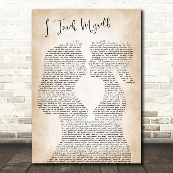 Divinyls I Touch Myself Lesbian Women Gay Brides Couple Wedding Wall Art Gift Song Lyric Print