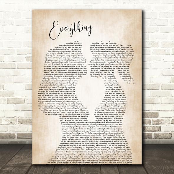 Mary J Blige Everything Lesbian Women Gay Brides Couple Wedding Wall Art Gift Song Lyric Print