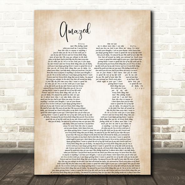 Lonestar Amazed Lesbian Women Gay Brides Couple Wedding Decorative Gift Song Lyric Print