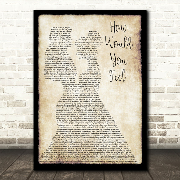 Ed Sheeran How Would You Feel Lesbian Couple Two Ladies Dancing Wall Art Gift Song Lyric Print
