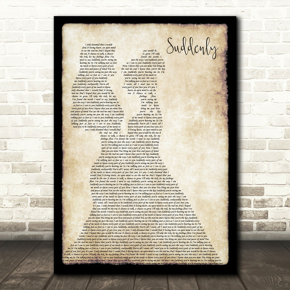 Angry Anderson Suddenly Lesbian Couple Two Ladies Dancing Decorative Gift Song Lyric Print