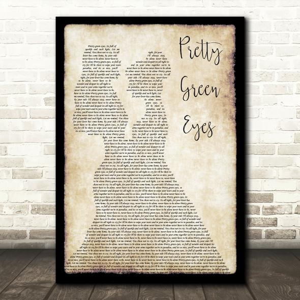 Ultrabeat Pretty Green Eyes Lesbian Couple Two Ladies Dancing Wall Art Song Lyric Print