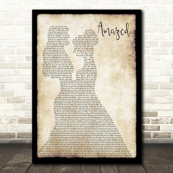 Lonestar Amazed Lesbian Couple Two Ladies Dancing Decorative Gift Song Lyric Print