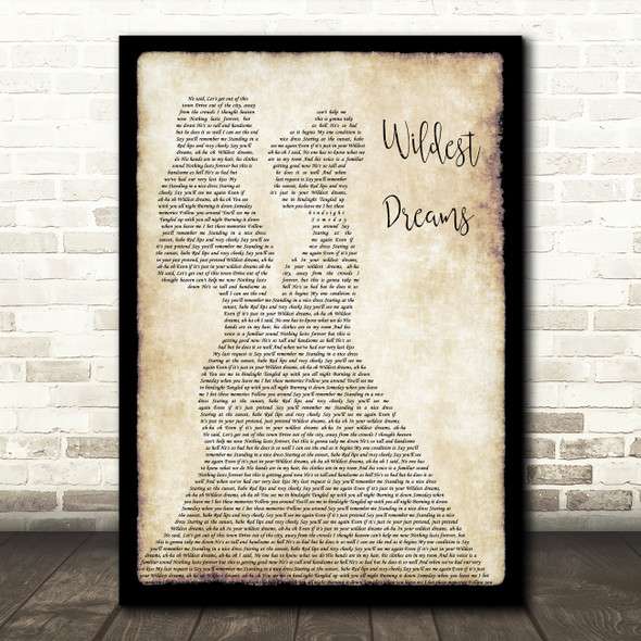 Taylor Swift Wildest Dreams Lesbian Couple Two Ladies Dancing Song Lyric Print