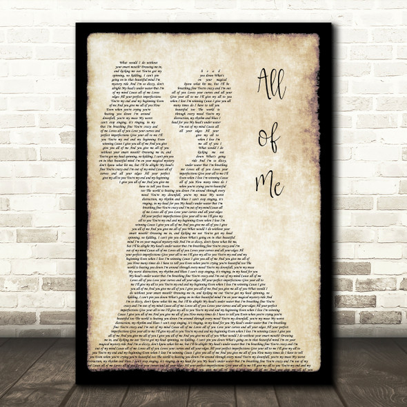 Jasmine Thompson All of Me Lesbian Couple Two Ladies Dancing Song Lyric Print