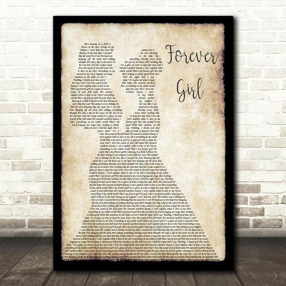 Jon Langston Forever Girl Lesbian Couple Two Ladies Dancing Song Lyric Print