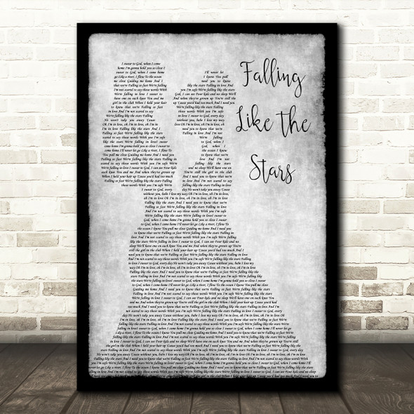 James Arthur Falling Like The Stars Lesbian Couple Two Ladies Dancing Grey Song Lyric Print
