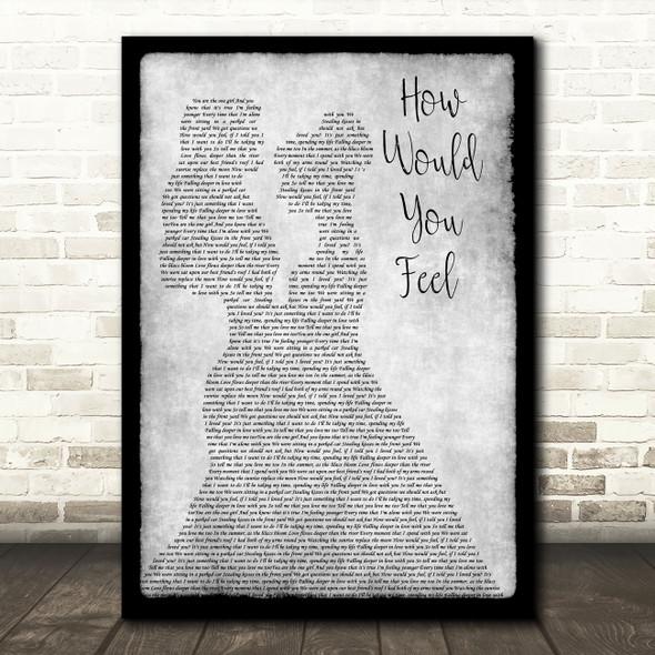 Ed Sheeran How Would You Feel Lesbian Couple Two Ladies Dancing Grey Gift Song Lyric Print