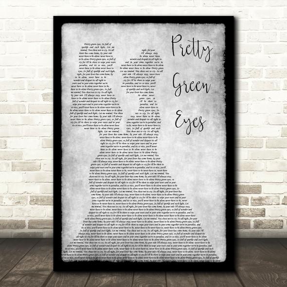 Ultrabeat Pretty Green Eyes Lesbian Couple Two Ladies Dancing Grey Gift Song Lyric Print