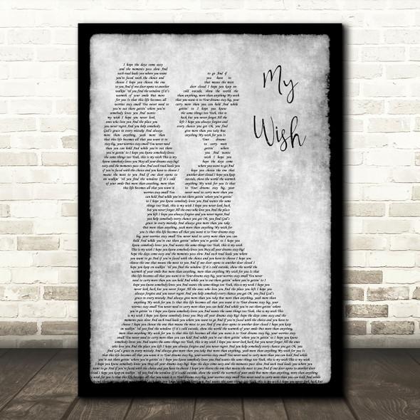 Rascal Flatts My Wish Lesbian Couple Two Ladies Dancing Grey Song Lyric Print