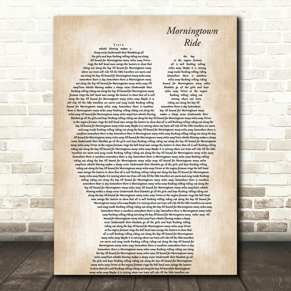 The Seekers Morningtown Ride Mother & Baby Decorative Wall Art Gift Song Lyric Print