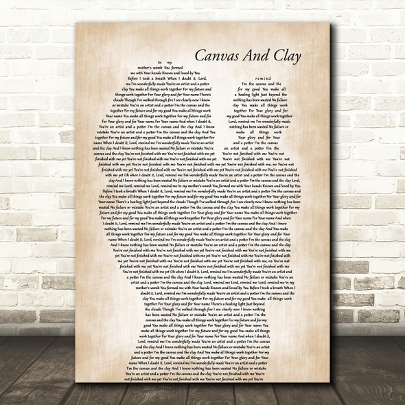 Pat Barrett Canvas And Clay Mother & Baby Decorative Wall Art Gift Song Lyric Print