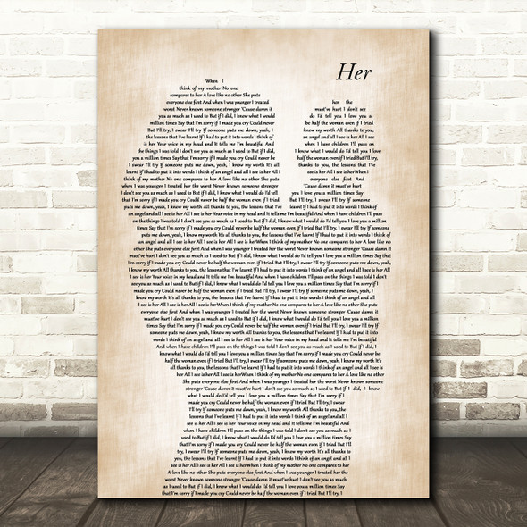 Anne-Marie Her Mother & Baby Decorative Wall Art Gift Song Lyric Print