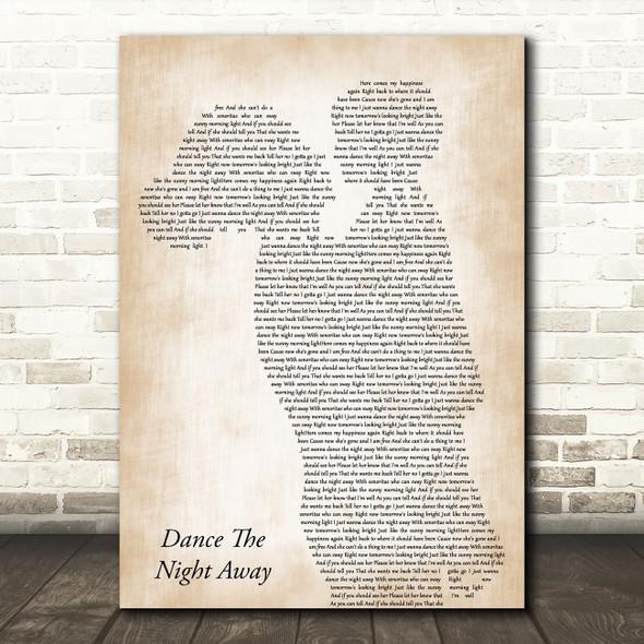The Mavericks Dance The Night Away Mother & Child Decorative Wall Art Gift Song Lyric Print