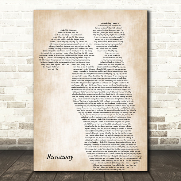 Del Shannon Runaway Mother & Child Decorative Wall Art Gift Song Lyric Print