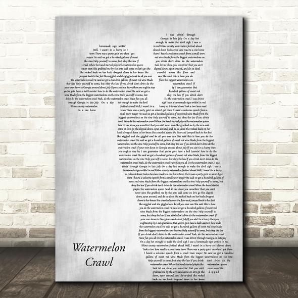 Tracy Byrd Watermelon Crawl Mother & Child Grey Decorative Wall Art Gift Song Lyric Print