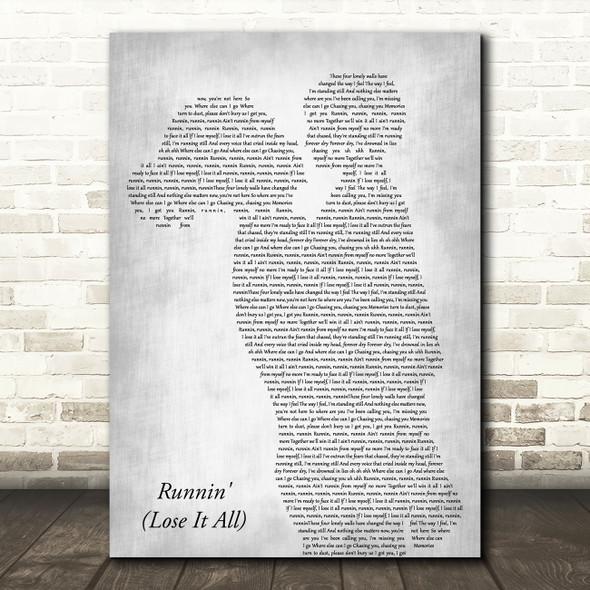 Naughty Boy Runnin' (Lose It All) Mother & Child Grey Decorative Gift Song Lyric Print