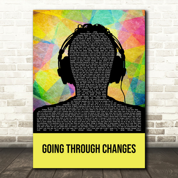 Eminem Going Through Changes Multicolour Man Headphones Decorative Gift Song Lyric Print
