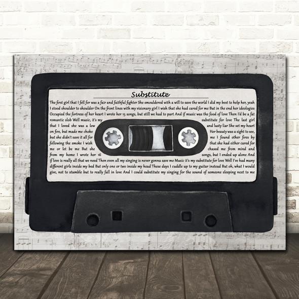 Frank Turner Substitute Music Script Cassette Tape Decorative Wall Art Gift Song Lyric Print