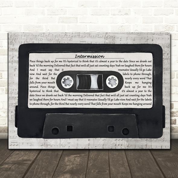Catfish and the Bottlemen Intermission Music Script Cassette Tape Gift Song Lyric Print