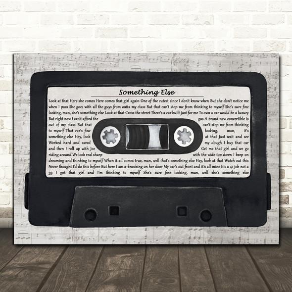 Sid Vicious Something Else Music Script Cassette Tape Decorative Gift Song Lyric Print
