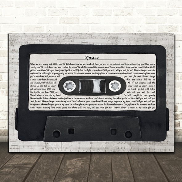 Biffy Clyro Space Music Script Cassette Tape Decorative Wall Art Gift Song Lyric Print