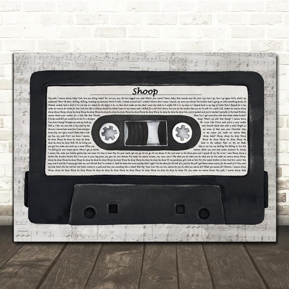 Salt-N-Pepa Shoop Music Script Cassette Tape Decorative Wall Art Gift Song Lyric Print