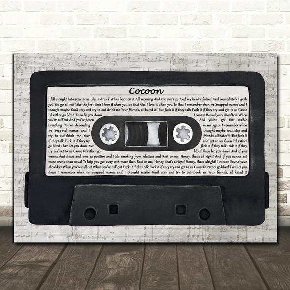 Catfish And The Bottlemen Cocoon Music Script Cassette Tape Wall Art Song Lyric Print
