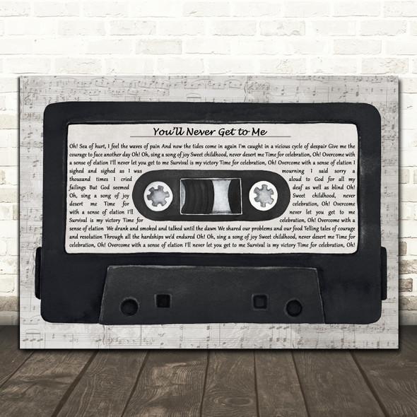 Killing Joke You'll Never Get to Me Music Script Cassette Tape Song Lyric Print