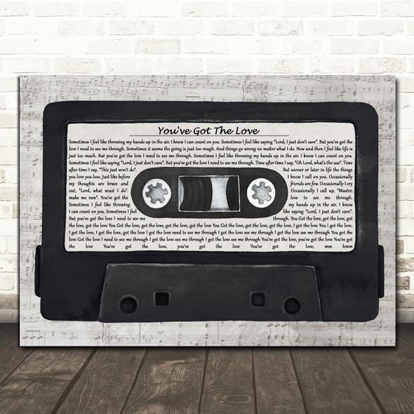 Candi Staton You've Got The Love Music Script Cassette Tape Song Lyric Print