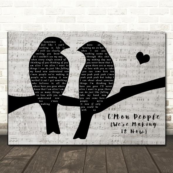 Richard Ashcroft C'Mon People (We're Making It Now) Lovebirds Music Script Song Lyric Print