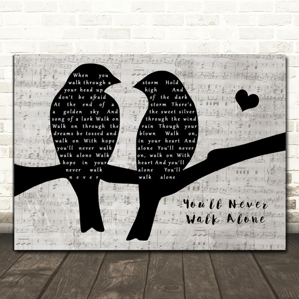 Gerry And The Pacemakers You'll Never Walk Alone Lovebirds Music Script Song Lyric Print