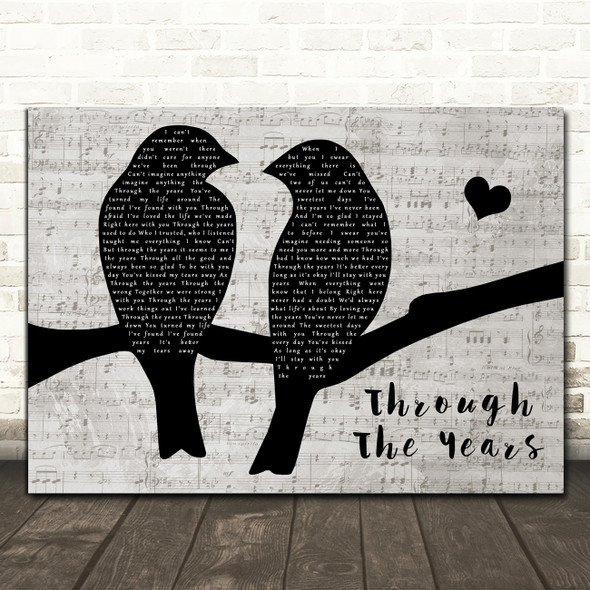 Kenny Rogers Through The Years Lovebirds Music Script Decorative Gift Song Lyric Print