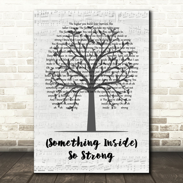Labi Siffre (Something Inside) So Strong Music Script Tree Decorative Gift Song Lyric Print