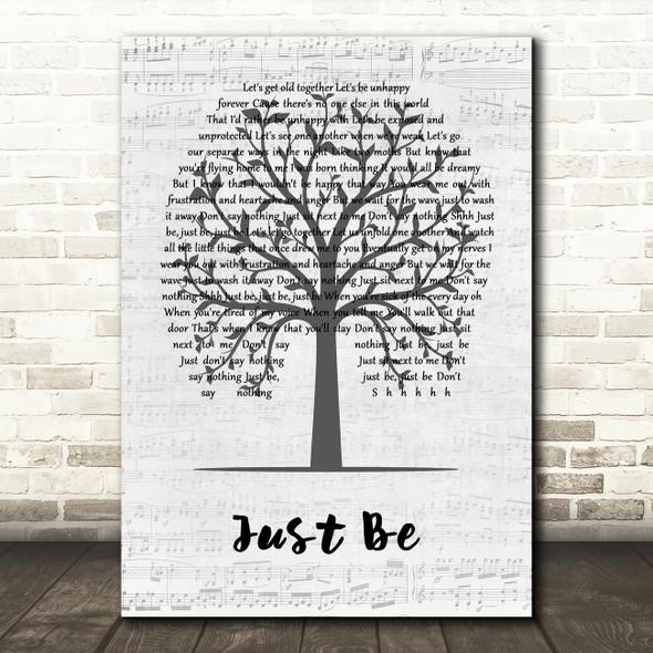 Paloma Faith Just Be Music Script Tree Decorative Wall Art Gift Song Lyric Print