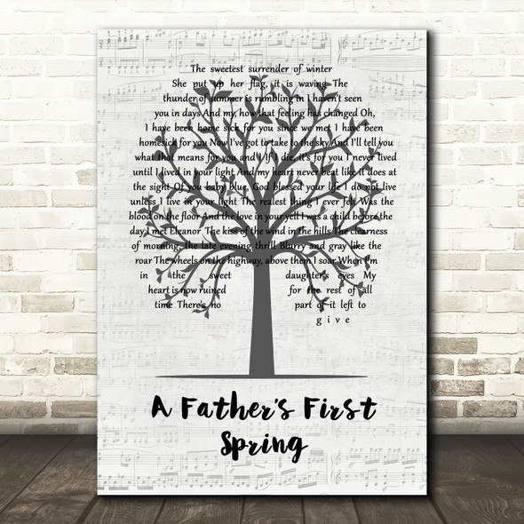 The Avett Brothers A Father's First Spring Music Script Tree Song Lyric Print