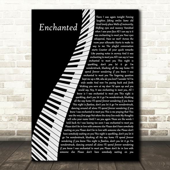Taylor Swift Enchanted Piano Decorative Wall Art Gift Song Lyric Print