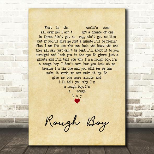 ZZ Top Rough Boy Vintage Heart Decorative Wall Art Gift Song Lyric Print