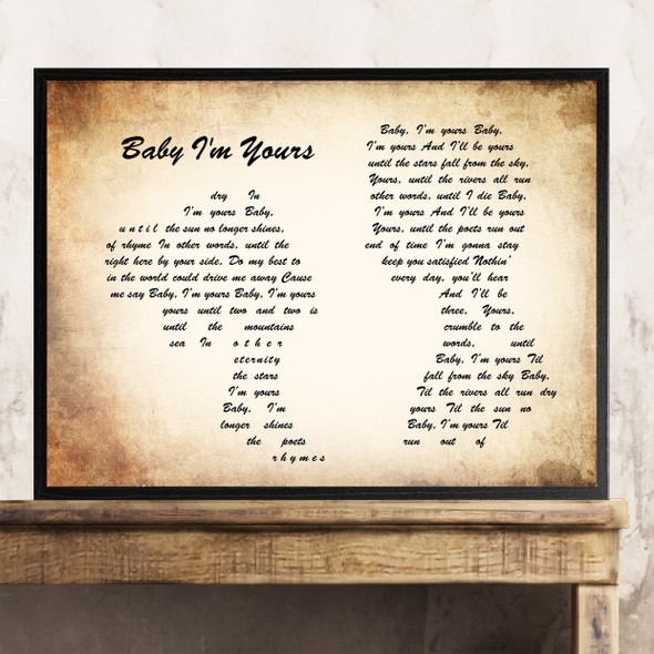 Arctic Monkeys Baby I'm Yours Man Lady Couple Song Lyric Quote Print