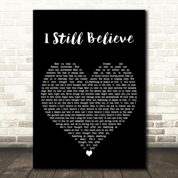 Frank Turner I Still Believe Black Heart Decorative Wall Art Gift Song Lyric Print