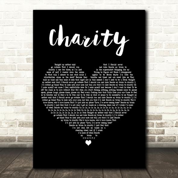 YUNGBLUD charity Black Heart Decorative Wall Art Gift Song Lyric Print