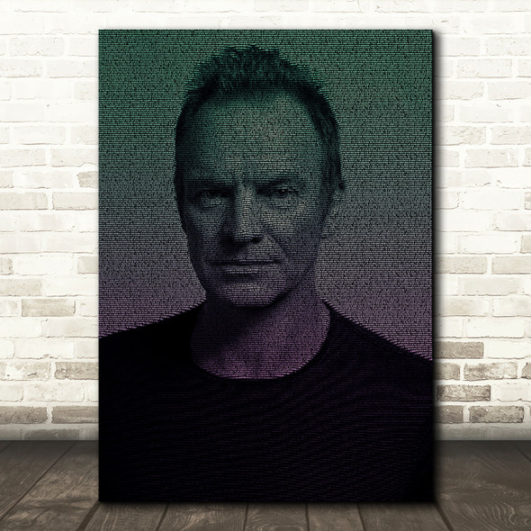 Sting Englishman In New York Face Music s Music Song Lyric Wall Art Print
