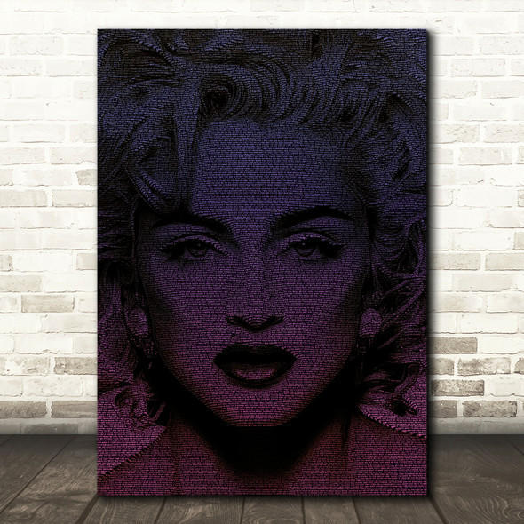 Madonna Like A Virgin Face s Purple Music Song Lyric Wall Art Print