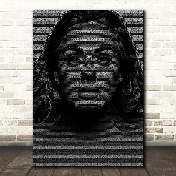Adele Hello Face s Music Song Lyric Wall Art Print