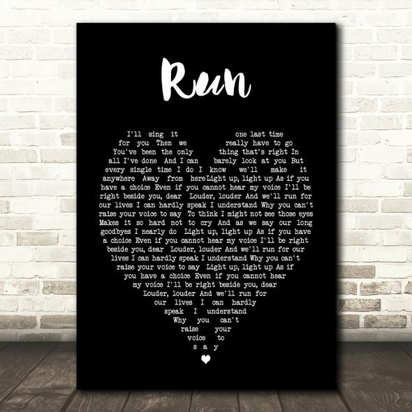 Run Leona Lewis Black Heart Song Lyric Quote Print