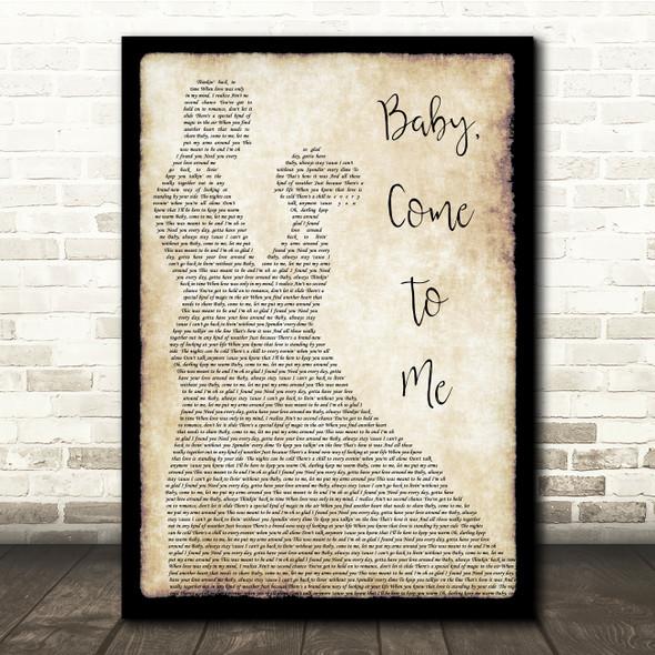 James Ingram Baby, Come To Me Man Lady Dancing Song Lyric Quote Print