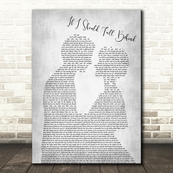 Bruce Springsteen If I Should Fall Behind Grey Song Man Lady Bride Groom Print