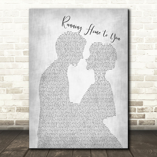 Grant Gustin Running Home to You Man Lady Bride Groom Wedding Grey Song Print