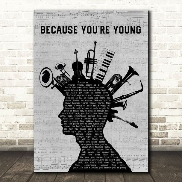 Cock Sparrer Because You're Young Musical Instrument Mohawk Song Lyric Art Print