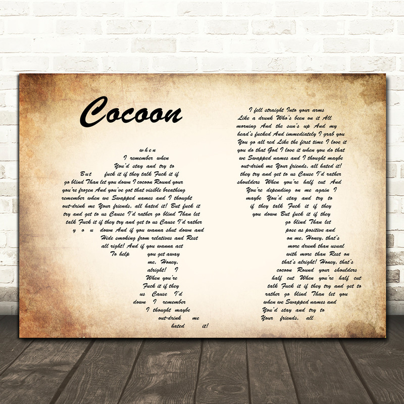 Catfish And The Bottlemen Cocoon Man Lady Couple Song Lyric Framed Print